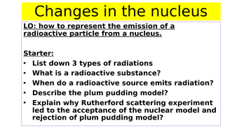 Changes in nucleus
