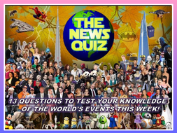 The News Quiz 25th November - 2nd December 2019 Form Tutor Time Current Affairs