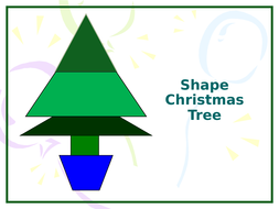Shape Christmas Tree Art Project