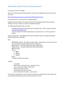 Snow White - An Environmental Disaster Tale - assembly script/play environment trees KS2/3