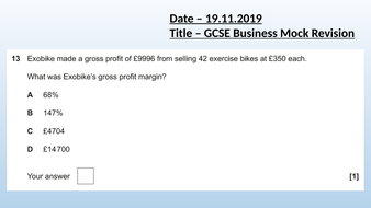 GCSE Business Revision Paper 2 - Operation, finance, influences on business .