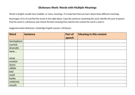 Dictionary-task---Vocabulary-Multiple-Meanings-p10-to-25.docx