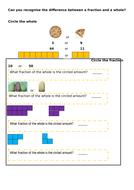 Fractions vs wholes