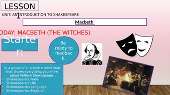 Year 7 /8 Macbeth Drama Power Point Slides