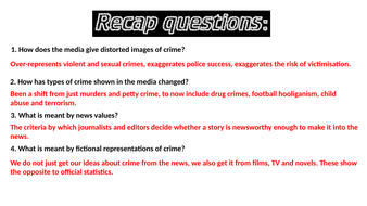 Sociology A2 the media and crime