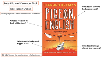 Pigeon English (Introduction Lesson)