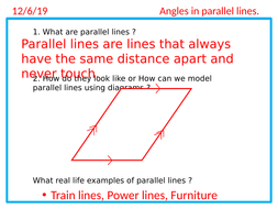 Angles in parallel lines