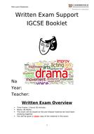 IGCSE Drama student work booklet