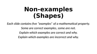 Non-Examples - Shapes (and Angles) - Reasoning Tasks