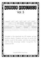 Number Bundle Practice 21-30