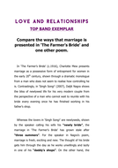 Marriage in The Farmer's Bride & Singh Song: Essay (Top Band)