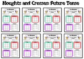 Morpions/ Noughts and Crosses- Grammar/ Conjugation Game- Future Tense- KS4 and KS5