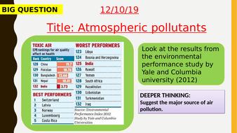 AQA new specification-Atmospheric pollutants-C13.5