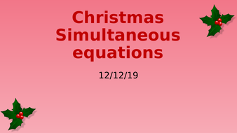 Christmas-Simultaneous-equations.pptx