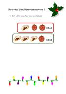 Christmas Simultaneous Equations