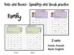 Dots and Boxes- Family/ La famille- French KS2-KS3