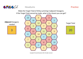 HexaSums - Addition Fluency Starter