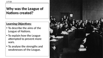 AQA: Why was the League of Nations Created
