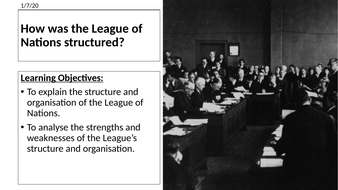 AQA: Structure of the League of Nations