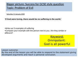 RE-lesson-writing-GCSE-style--using-Problem-of-Evil.ppt