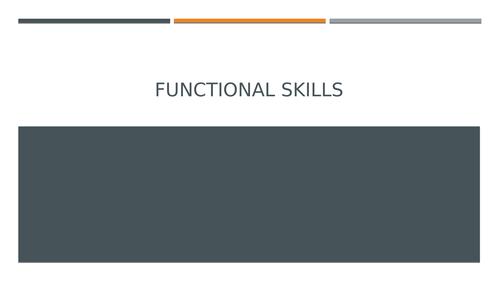 Functional Skills: Writing
