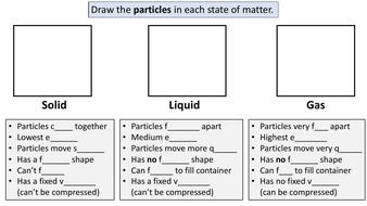States of Matter Worksheet Solids, Liquids, Gases ...