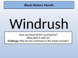 Black History Month Windrush 10 Slides