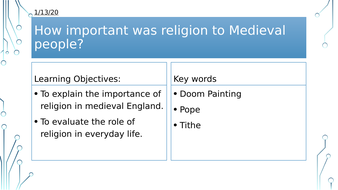 Year 7: Medieval Religion