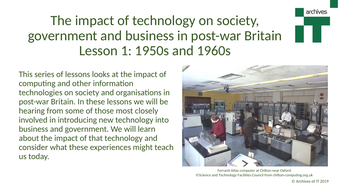 Impact of Technology on Society in Post-War Britain 1950s and 1960s (KS3/4)