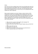 Character description reading comprehension/reading vipers