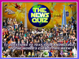 The News Quiz 14th - 21st January 2020 Form Tutor Time Current Affairs