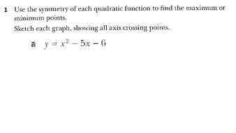 0606-IGCSE-Additional Maths-Simultaneous equations and Quadratics-Maximum and minimum values