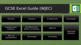 WJEC ICT Spreadsheet Guide GCSE