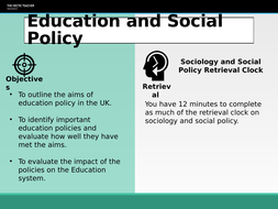 AQA A Level Sociology - Education and Social Policy