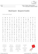 Benjamin Franklin - Word Search Activity