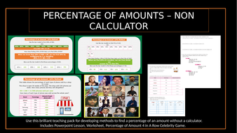 Percentage of Amounts-non calculator