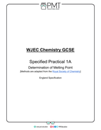 WJEC England GCSE Chemistry Practical Notes