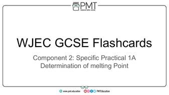 WJEC England GCSE Chemistry Practical Flashcards