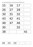 Counting forwards and backwards to 50