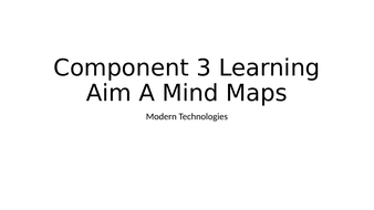BTEC DIT Component 3 Learning Aim A Mind Maps