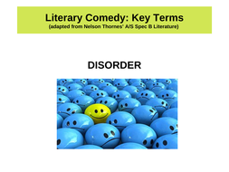 Powerpoint for comedy genre AQA Lit