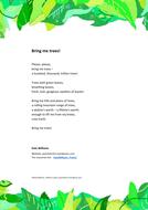 Climate Change Poem - Bring Me Trees!