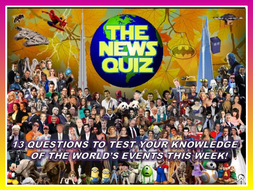 The News Quiz 21st - 28th January 2020 Form Tutor Time Current Affairs