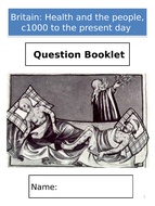 AQA GCSE History; Britain: Health and the people, c1000 to the present day - Exam Question Booklet