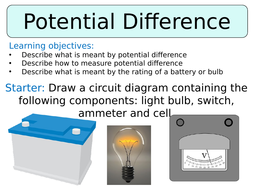 KS3 ~ Year 8 ~ Potential Difference