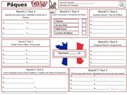 Easter-French--Answer-Sheet.pptx