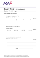 Equation-of-a-circle---Topic-test-1-H-v1.1.doc