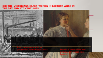 Where the Victorians Racists? Women and Child  Labour in The Victorian Era.