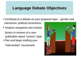 Language-Debate-Objectives---28-2-11.ppt