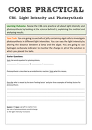 Edexcel CB6 Core Practical Revision- Light Intensity and Photosynthesis